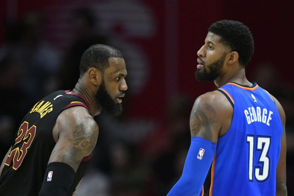 LeBron James and Paul George