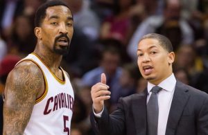 J.R. Smith and Tyronn Lue