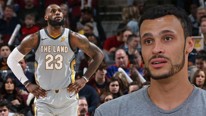 LeBron James and Larry Nance Jr.