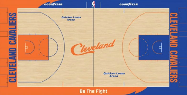 Cavs City Edition Court