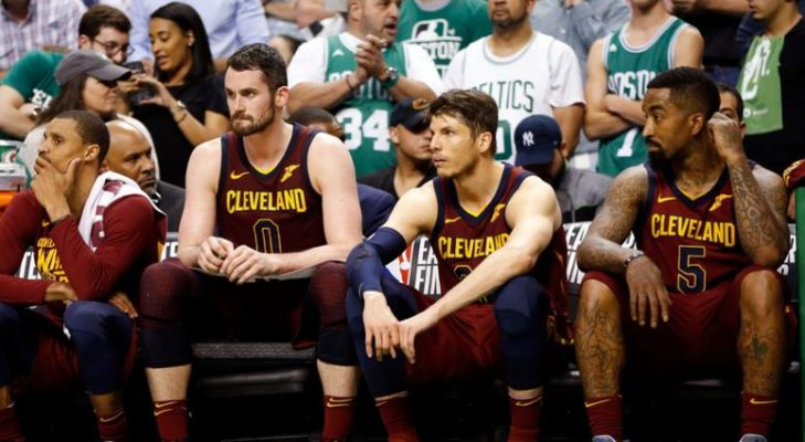 George Hill, Kevin Love, Kyle Korver, and J.R. Smith