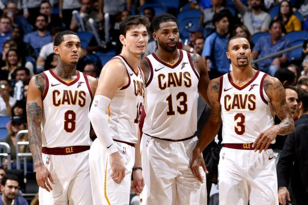 Jordan Clarkson, Cedi Osman, Tristan Thompson, and George Hill