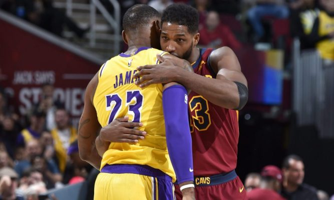 LeBron James and Tristan Thompson