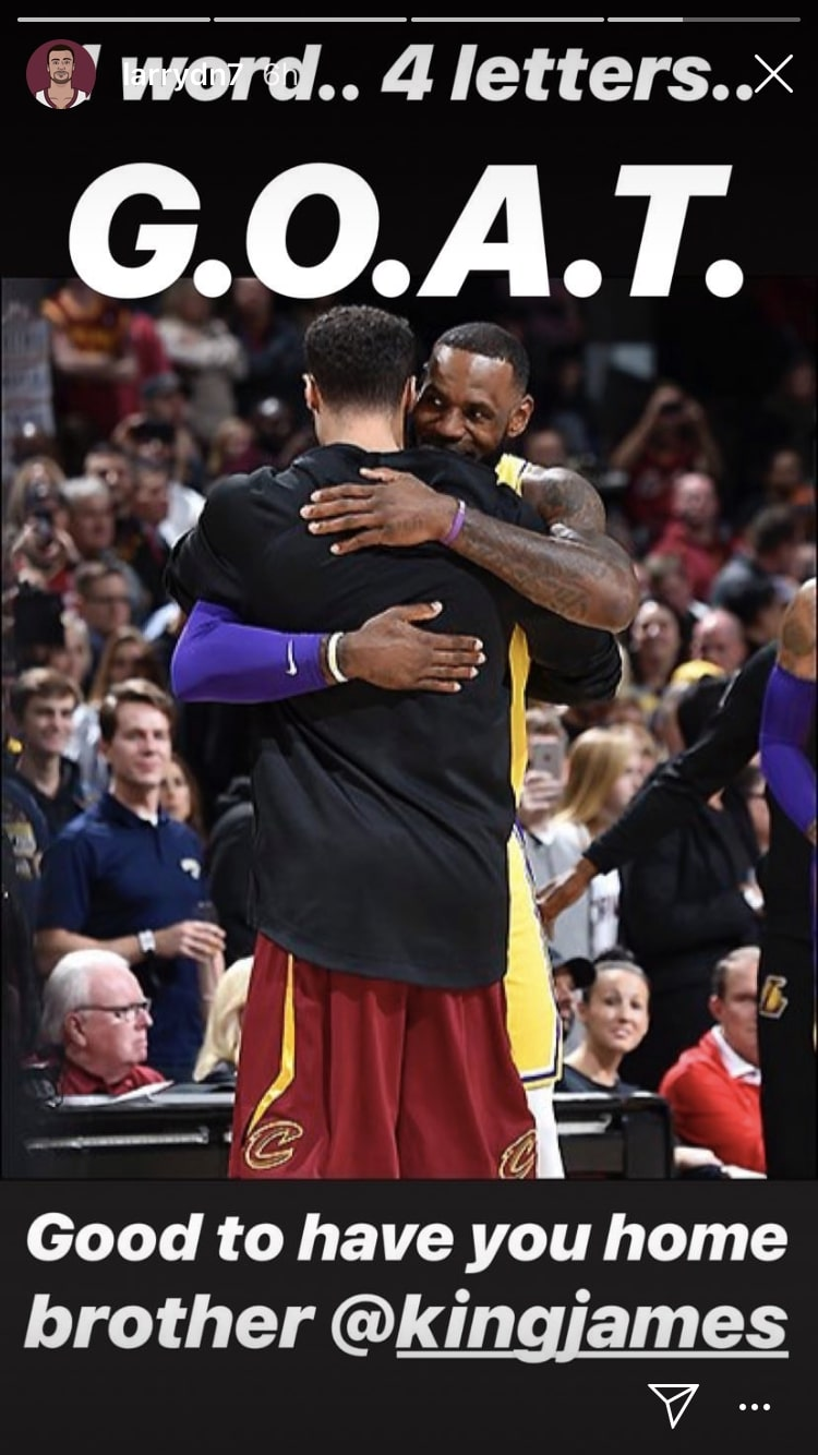 Larry Nance Jr. and LeBron James