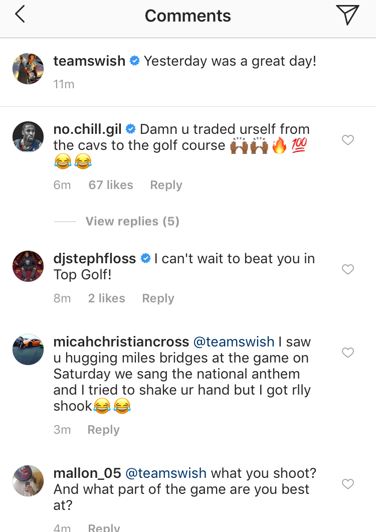 Gilbert Arenas and J.R. Smith Instagram