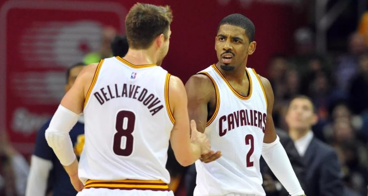 Matthew Dellavedova and Kyrie Irving
