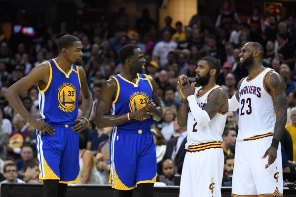 Kevin Durant, Draymond Green, Kyrie Irving and LeBron James