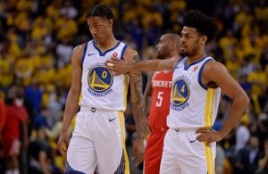 Patrick McCaw and Quinn Cook Warriors