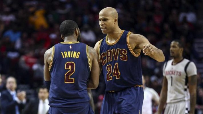 Kyrie Irving and Richard Jefferson Cavs