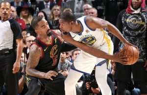 J.R. Smith and Kevin Durant