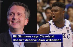 Bill Simmons Zion Williamson Cavs
