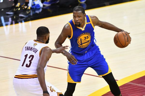Tristan Thompson and Kevin Durant