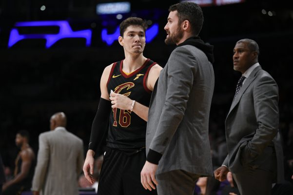 Kevin Love and Cedi Osman