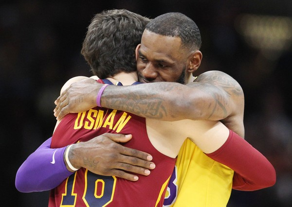 Cedi Osman and LeBron James