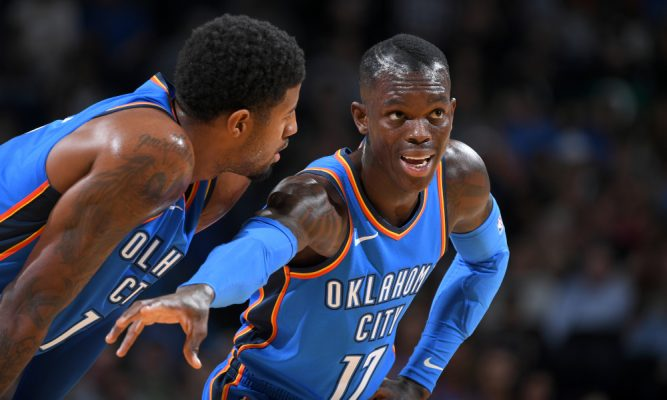 Dennis Schroder and Paul George OKC Thunder