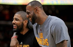 Kyrie Irving and LeBron James Cavs