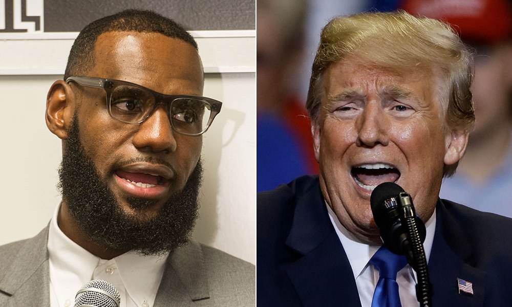 LeBron James and Donald Trump