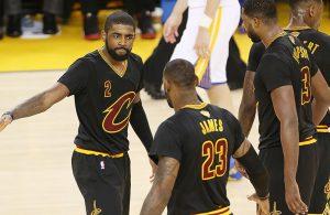 Kyrie Irving, LeBron James, Tristan Thompson 2016 Finals