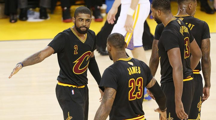 Kyrie Irving, LeBron James, Tristan Thompson 2016 Finals
