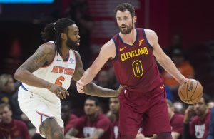 Kevin Love and DeAndre Jordan