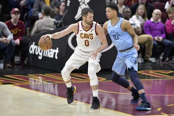 Kevin Love and Ivan Rabb