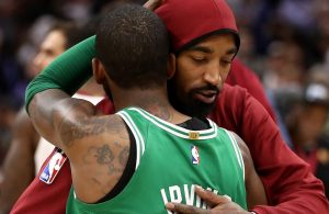 Kyrie Irving and J.R. Smith