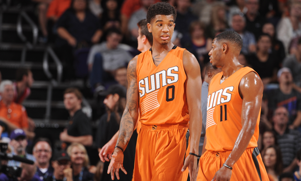 Marquese Chriss and Brandon Knight