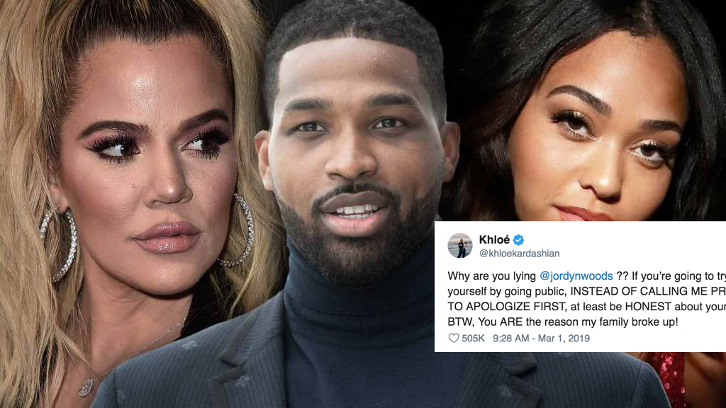 Khloe Kardashian, Tristan Thompson and Jordyn Woods