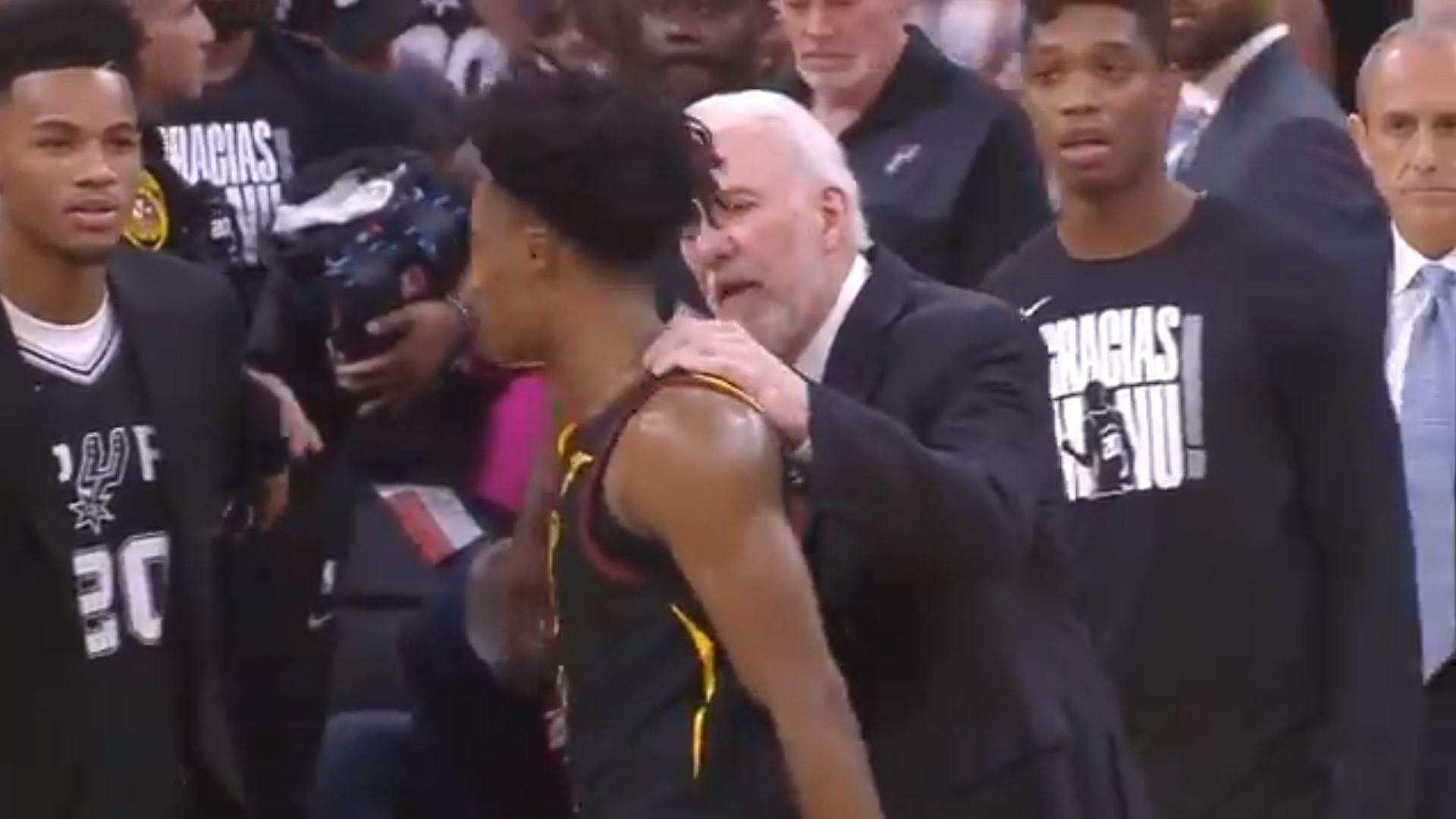 Collin Sexton and Gregg Popovich