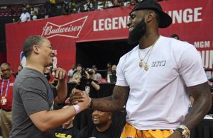 Tyronn Lue and LeBron James Lakers