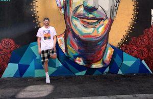 Kevin Love Anthony Bourdain Mural