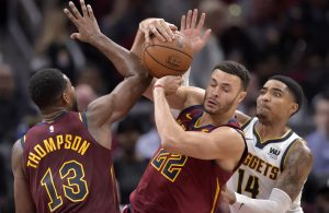 Tristan Thompson and Larry Nance Jr. Cavs