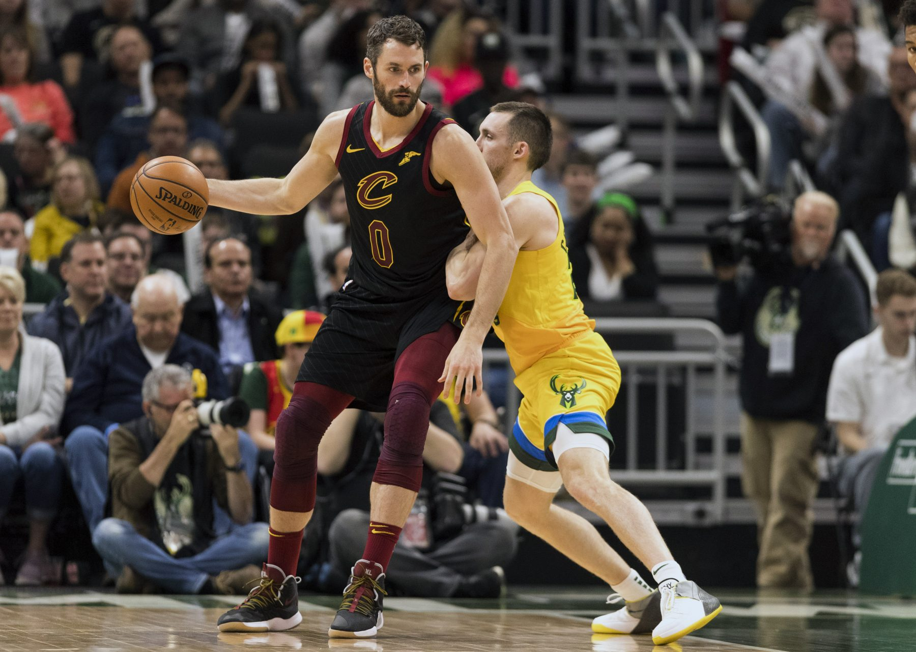 Kevin Love and Pat Connaughton