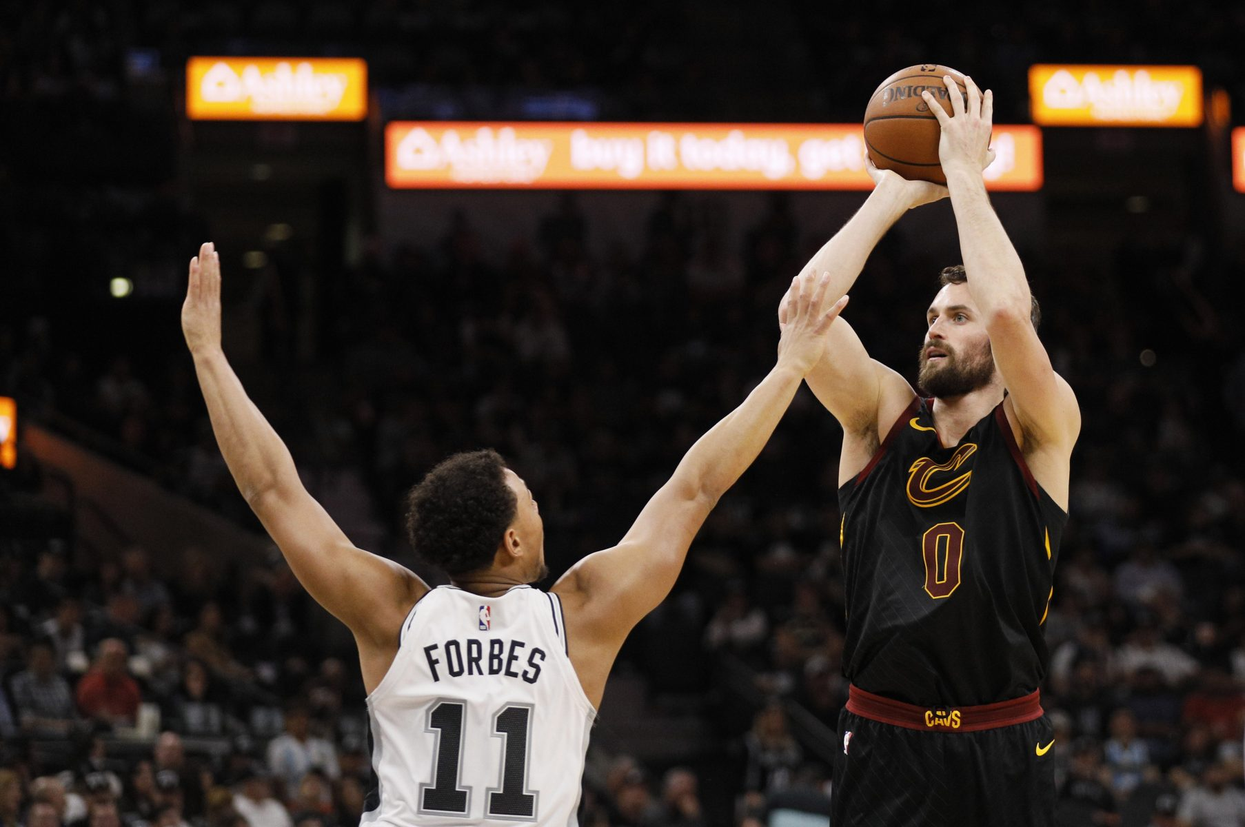 Kevin Love and Bryn Forbes