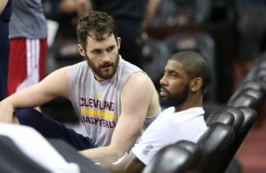 Kevin Love and Kyrie Irving Cavs