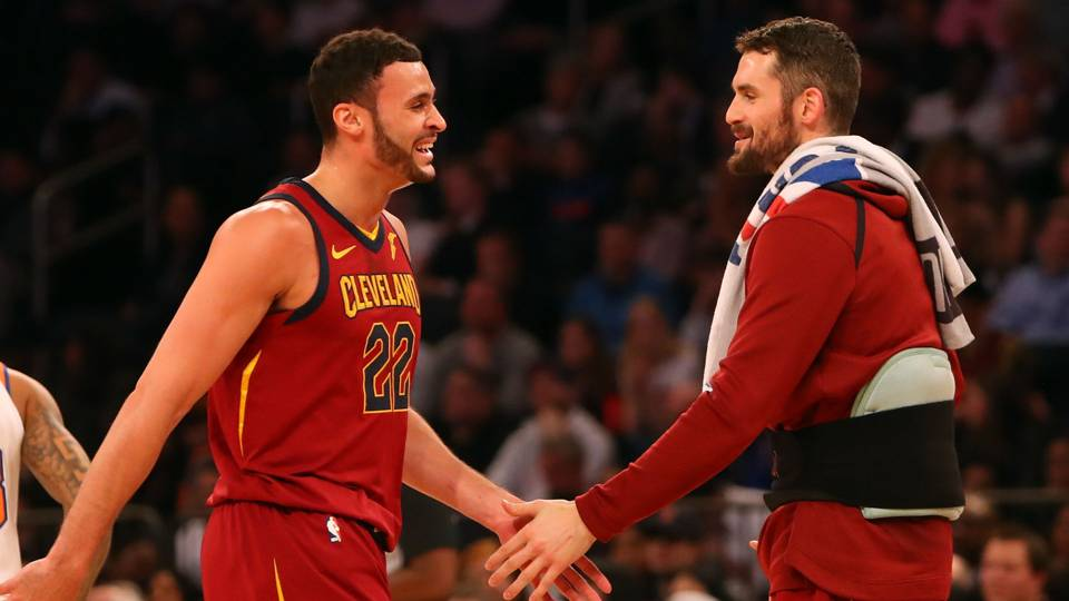 Larry Nance Jr. and Kevin Love