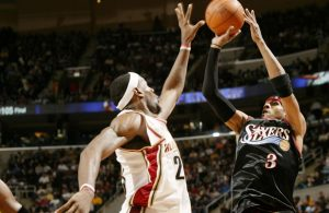 Allen Iverson and LeBron James