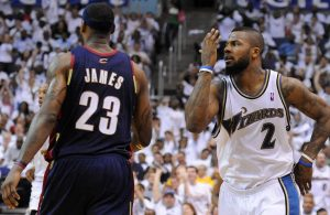 LeBron James and LeBron James and DeShawn Stevenson