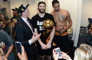 Kevin Love and Channing Frye Cavs Championship