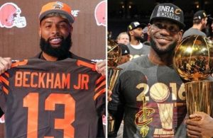 Odell Beckham Jr. and LeBron James