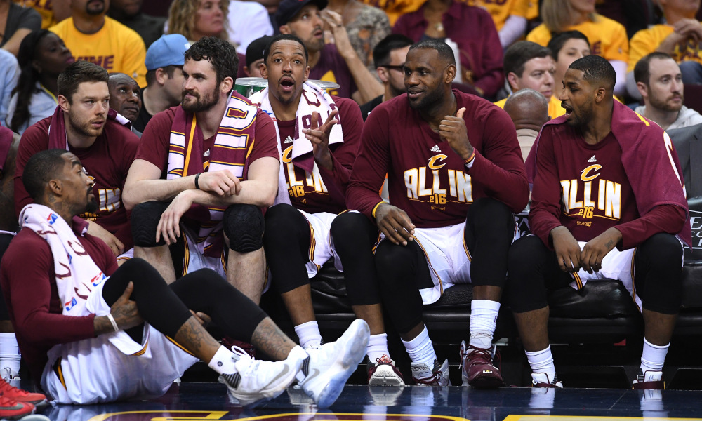 LeBron James, Kevin Love, and Channing Frye