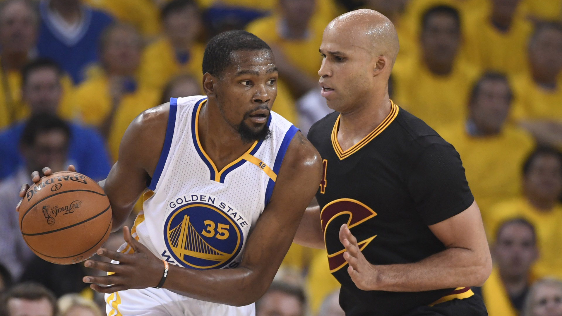 Kevin Durant and Richard Jefferson