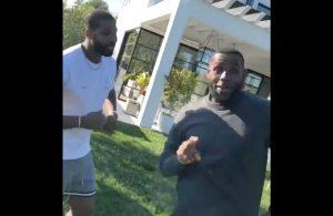 Tristan Thompson and LeBron James
