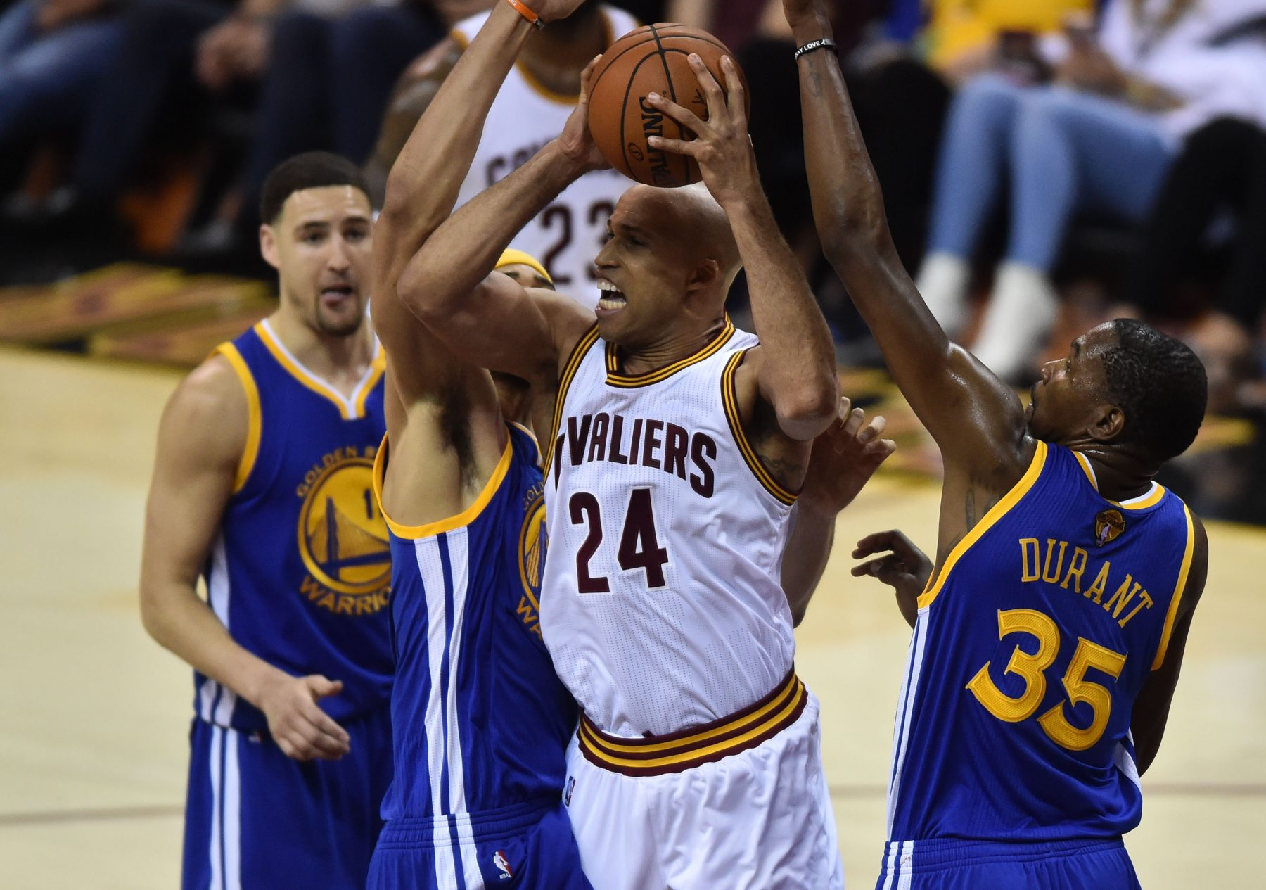 Cleveland Cavaliers Golden State Warriors Richard Jefferson LeBron James Kevin Durant Klay Thompson JaVale McGee