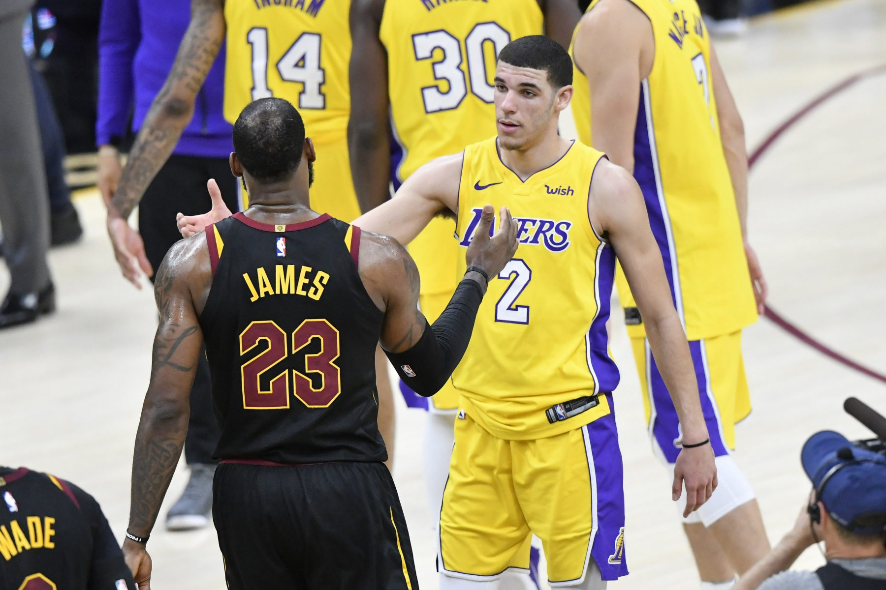 Cleveland Cavaliers Los Angeles Lakers LeBron James Lonzo Ball