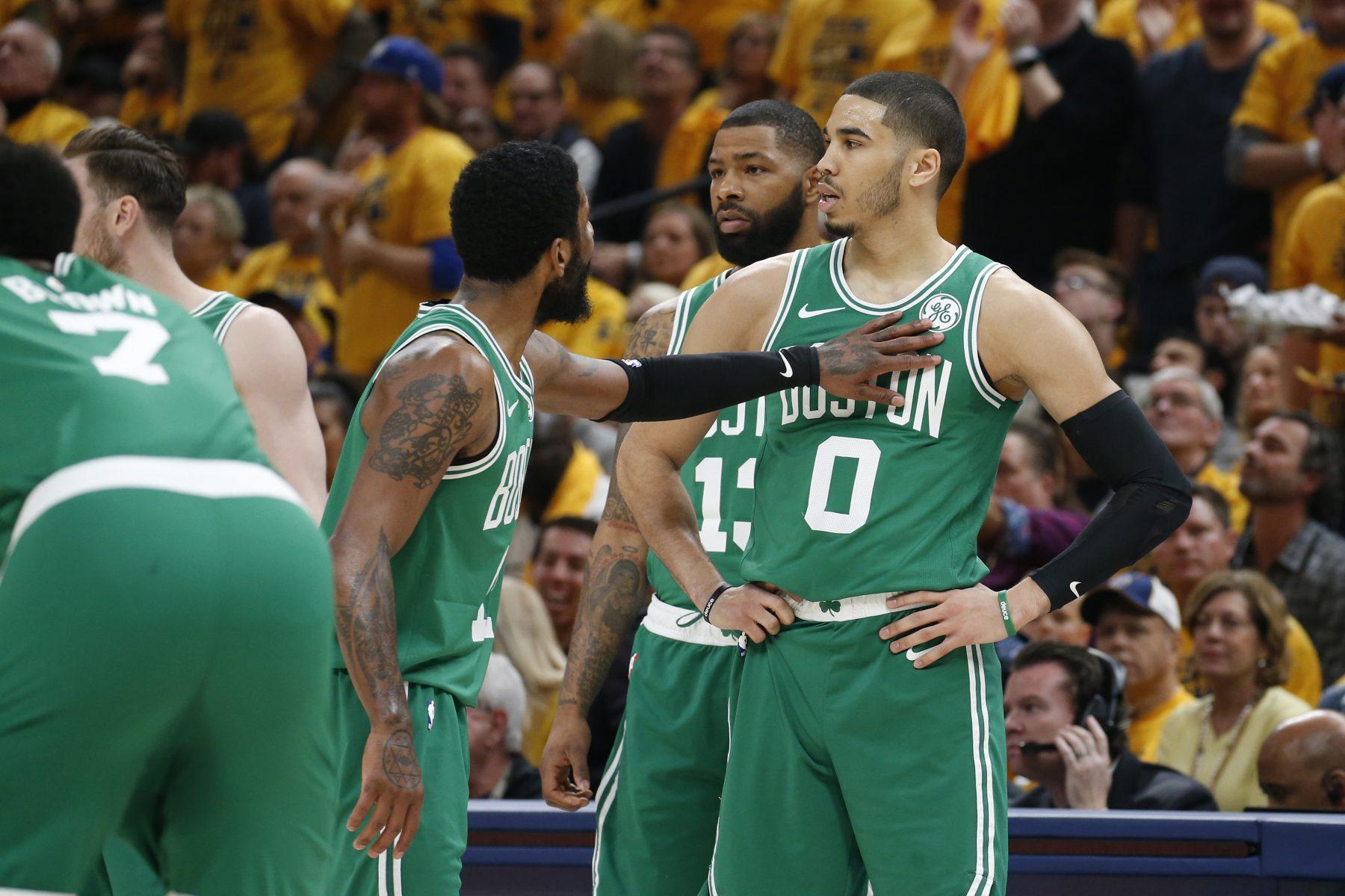 Kyrie Irving and Jayson Tatum Celtics