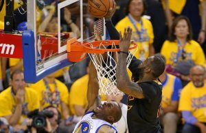 LeBron James Block on Andre Iguodala