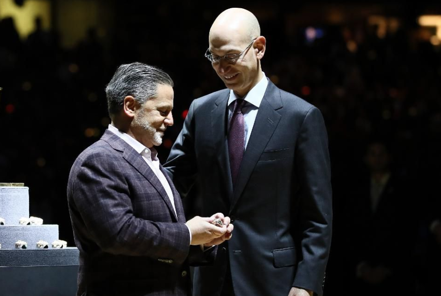 Dan Gilbert and Adam Silver