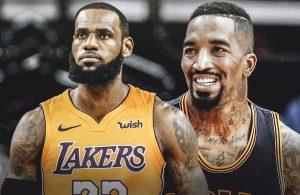LeBron James and J.R. Smith Lakers