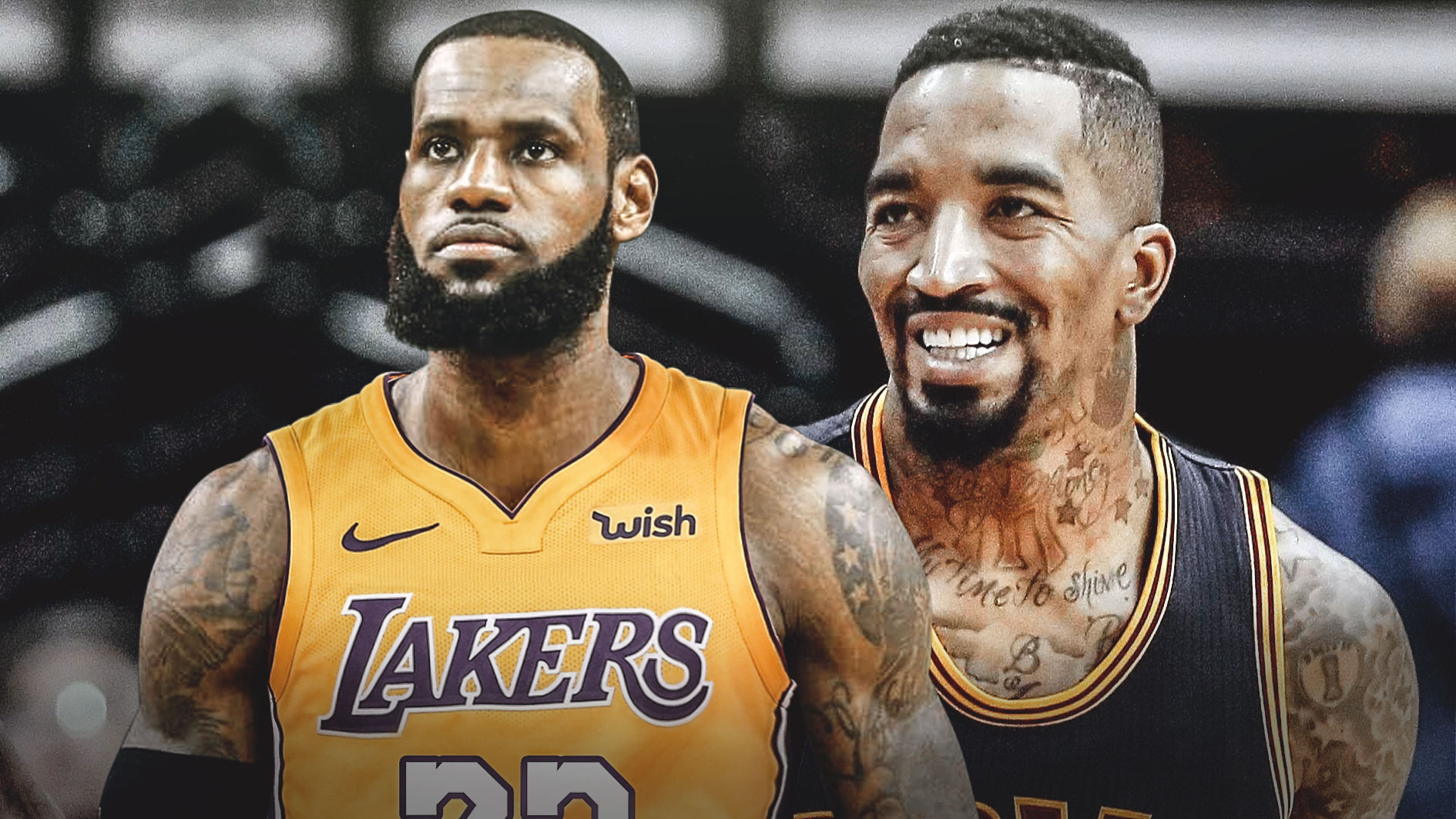 LeBron James and J.R. Smith Lakers